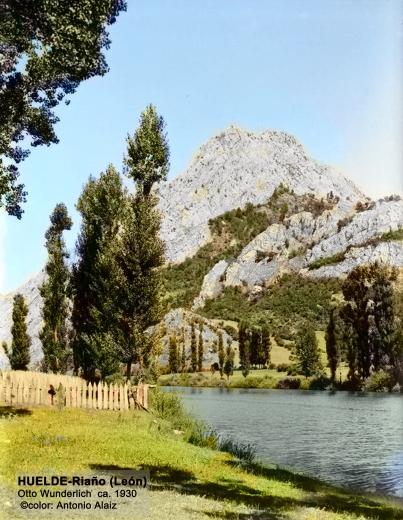 Huelde y su río con el Gilbo al fondo