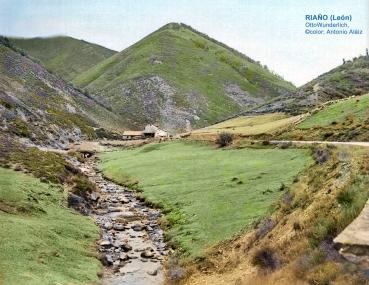 Camino a Pontón en el cruce con de valle del Orza