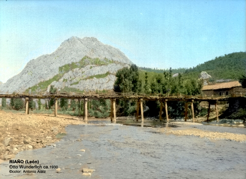 Huelde y su puente holdense con el Gilbo al fondo