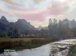 La presa llegando al pueblo en la fuente del Angelico